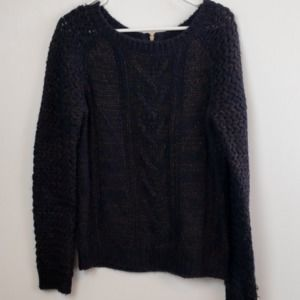 Cynthia Rowley  Black & Metallic Sweater size M
